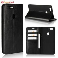 Luxury Genuine Leather Wallet Flip Case Cover For Oppo R11s / R11s Plus