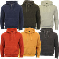Mens Borg Sherpa Fleece Sweatshirt Brave Soul DAIM Over The Head Hooded Top Warm