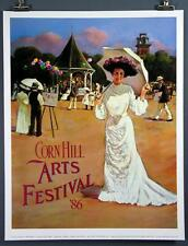 Corn Hill Arts Festival Rochester NY 1986 Poster Print Dick Lubey