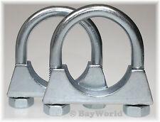 2St Auspuffschelle Rohr-Bügel Schelle U-Bolt Clamp M10 x 55 mm Flachbügelschelle