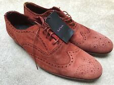 MENS PAUL SMITH MILLER DIP DYE LEATHER SHOES BROGUES UK 9.5 ITALY BURNT ORANGE