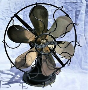 Westinghouse Brass  Six Blade Electric Fan 162634C Original Paint
