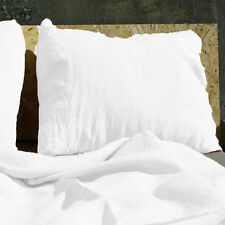 Linen Pillowcase 100% Pure Flax Shams White Pillow Slip Cushion Cover Case