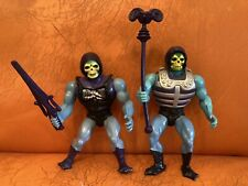 Vintage MOTU HE MAN SKELETOR LOT Action Figure 1980's MATTEL Masters Weapons