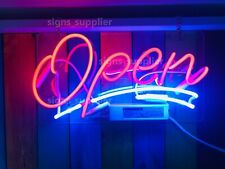 New Open Shop Business Neon Light Sign Acrylic Real Glass Bedroom Decor 14""