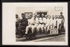 WACKY COSTUME CROWN MEN RAILROAD SALT MINING TRAIN ~ 1910s VINTAGE PHOTO GERMANY