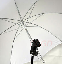 Photo Studio Flash Light Stand Mount Bracket+ White diffuser Umbrella