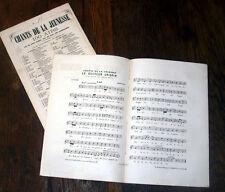 chanson du docteur Crispin opéra des frères Ricci chant baryton 1865