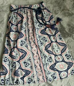 Batik Jeans Aspect Shabby Chic Vintage Used Look Superposé Stretch Robe Taille 44 46