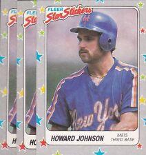 1988 FLEER BASEBALL STICKER LOT (3) HOWARD JOHNSON #104 METS NMMT/MINT *L1733