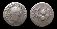 Empire romain - Vespasien - Denier frappé sous Titus (80-81) - Capricornes