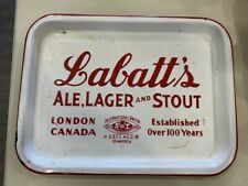 VINTAGE LABATT'S ADVERTISING BEER SERVING TRAY
