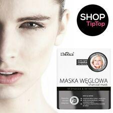 L'biotica Luxury Charcoal Mask 23 ml Maska Weglowa Detox Collagen Paraben Free