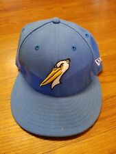 MiLB Myrtle Beach Pelicans New Era 59FIFTY Fitted Hat Size 7 Men's Baseball Cap