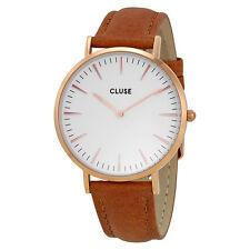 Cluse La Boheme White Dial Caramel Leather Ladies Watch CL18011