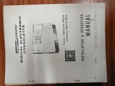 Seeburg jukebox  machine manual paperwork DEC1 / DEC2 / DEC3 / DEC4