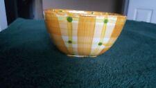 Cali USA Plaid Bowl W/Acorn