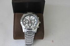 Michael Kors Caine Silver Dial Chronograph Stainless Steel Mens Watch MK8472