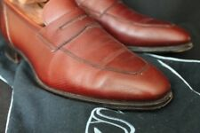 Alfred Sargent Exclusive NMWA Odell Cognac Cross Hatch Grain Loafer Slip On 9 UK