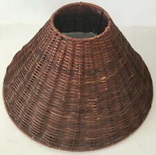 Vintage 1970's Waved Bamboo Style Shade (Lamp Not Included) C1
