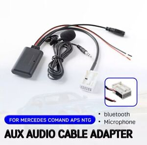 Mercedes Audio 20 30 50 Car Radio aux bluetooth Adaptor connector Music Stream
