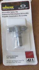 "WAGNER TRADE TIP 411 Reversible Spray Tip 8"" Fan Pattern .011"" Orifice 0501411"