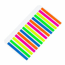 300 Thin Rectangular Temporary Highlighter Strips Page Marker Sticky Tabs Notes