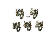 5pc Nail Art Charms 3D Nail Rhinestones Decoration Jewelry DIY Bling - C375