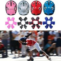 7 Pcs/Set Boys & Girls Kids Skate Cycling Bike Helmet Knee Elbow Pad Safe Czxy