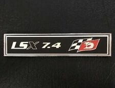 LSX 7.4 RED CONSOLE/DASH OR TOOL BOX BADGE HOLDEN CHEV GREAT GIFT IDEA!