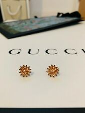 18K Gold earrings with 22 Diamonds! Brand New!