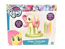 My Little Pony Glitter Set Fluttershy Figurine Girls Art And Design Activity Set