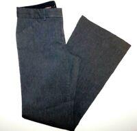 "Express Editor Dark Gray Flat Front Boot Cut Women's Pants 4R 29x31""."