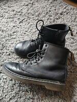 Girl's Dr. Martens 1460 Fleece Lined Black Boots Size UK 1 EU 33