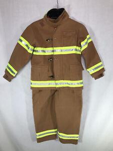 Get Real Gear Dress Up Kids Firefighter Costume Dress Up Toddler Size 6-8
