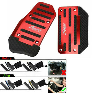 Universal Car Red Non-Slip Automatic Gas Brake Foot Pedal Pad Cover Accessories