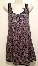 Women's Sequin Snakeskin Design Mini Evening Coctail Dress NEW + Tag RRP Size 12