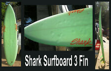 "Surfboard Shark Brand 3 Fins Lime Green Color 82"" x 21"" Vintage Found San Diego"