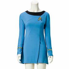 Star Trek Female Duty TOS Blaues Uniformkleid Cosplay Kostüm Anzug Erwachsener