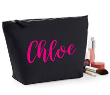 Personalised Make Up Bag Any Name Birthday Present Mothers Day Custom Gift