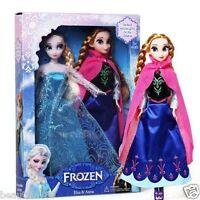 "2PCS Birthday Gift Playset Frozen Princess Elsa&Anna 12"" 30CM Doll Figures toy -"