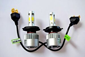 DAIHATSU CHARADE 1993-2000 Headlight 2x H4 Kit Car LED Bulbs PURE WHITE