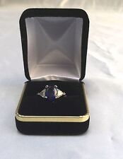 MAGNIFICENT 18K WHITE GOLD BURMA SAPPHIRE, DIAMOND RING NO HEAT WITH CERTIFICATE