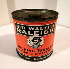 VINTAGE SIR WALTER RALEIGH SMOKING TOBACCO FOR PIPE AND CIGARETTES TOBACCO TIN