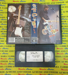 VHS ERIC CLAPTON Live '85 1985 POLYGRAM 041 300 2 no cd mc dvd lp (VM5)
