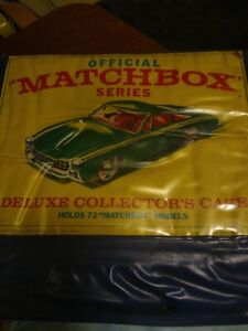 Vintage 1968 Official Matchbox Series Collector's Case with 59 old cars