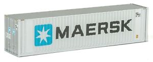 Maersk 40' Hi-Cube Container (Silver) N / 1:64 - Walthers SceneMaster #949-8801