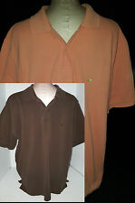 Lot 2 Mens Brooks Brothers Polo Rugby Shirts Short Sleeve L Large Orange Brown