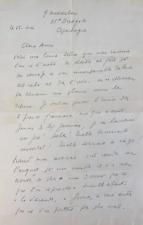 Louis-Ferdinand CÉLINE - Lettre autographe signée. Son exil en 1947