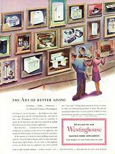 1944 ORIGINAL VINTAGE WESTINGHOUSE HOME APPLIANCE MAGAZINE AD